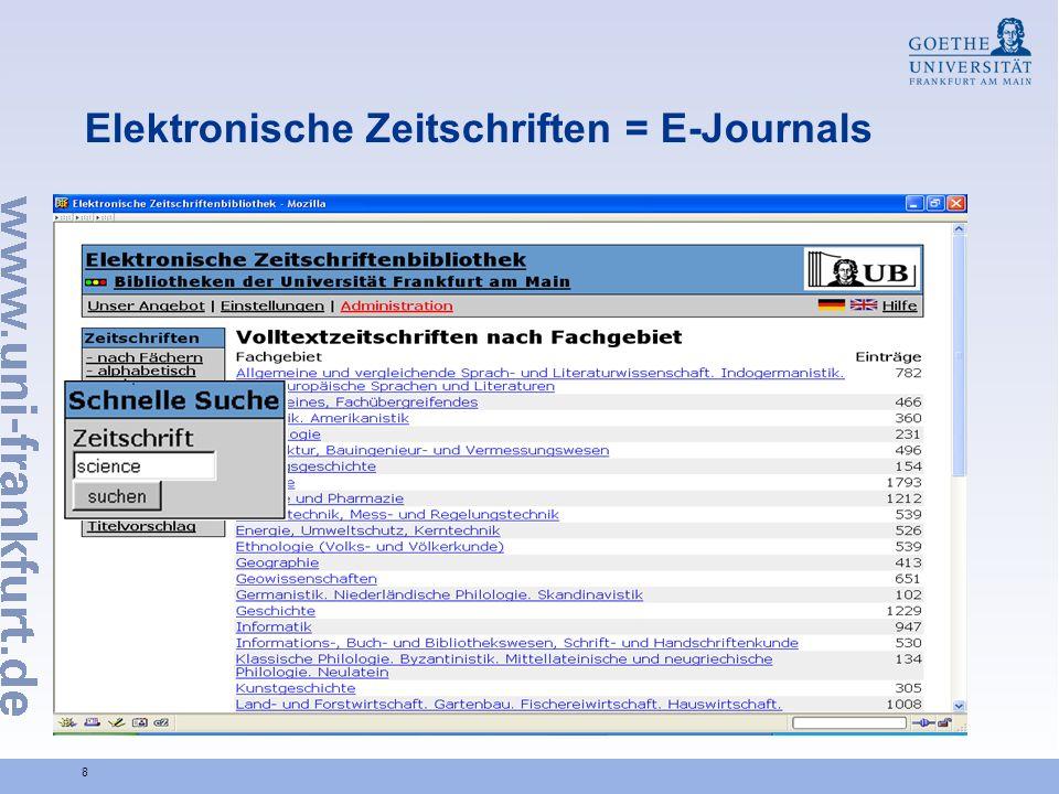 29 Universitätsbibliothek Johann Christian Senckenberg Dr.