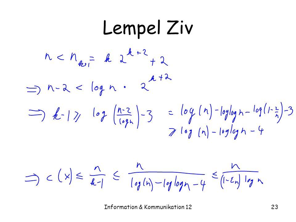 Information & Kommunikation 1223 Lempel Ziv