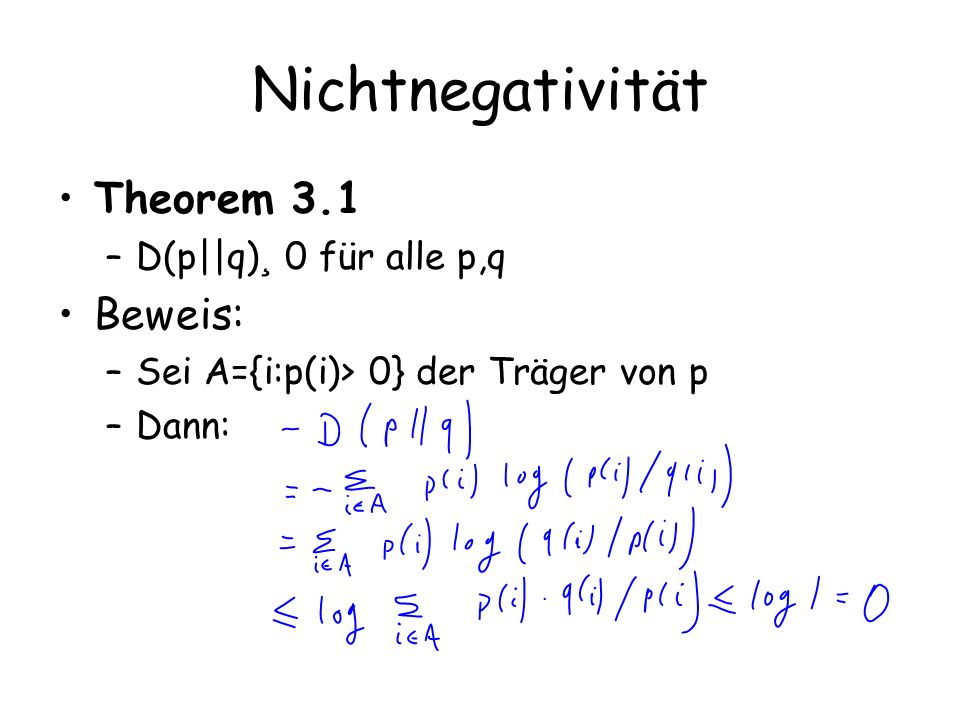 Data Processing Inequality Theorem 3.8 –Wenn X .Y .