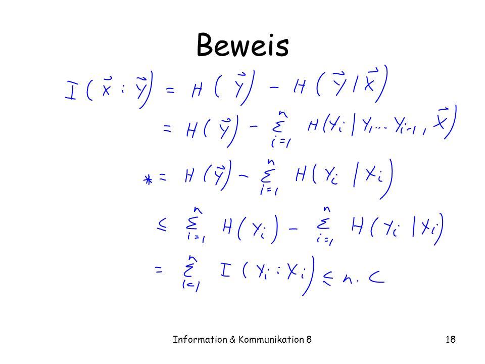 Information & Kommunikation 818 Beweis