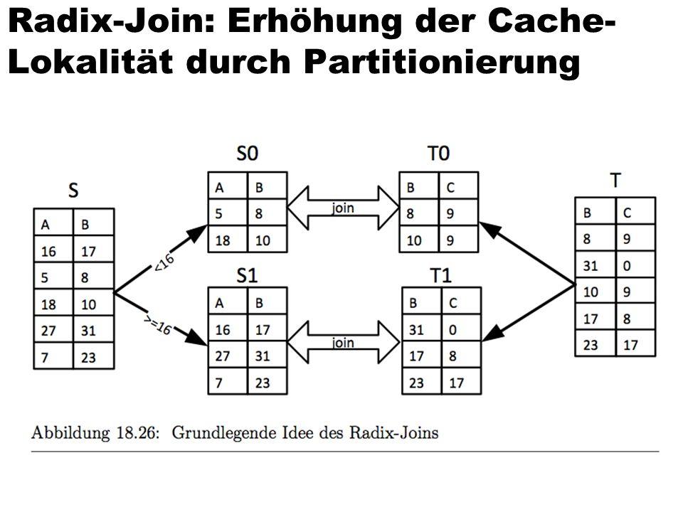 Radix-Join: Erhöhung der Cache- Lokalität durch Partitionierung