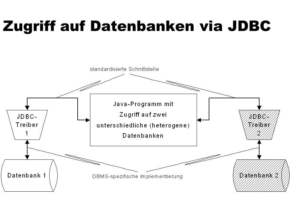 Zugriff auf Datenbanken via JDBC