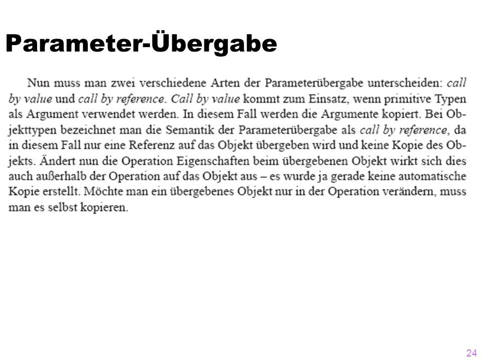 Parameter-Übergabe 24