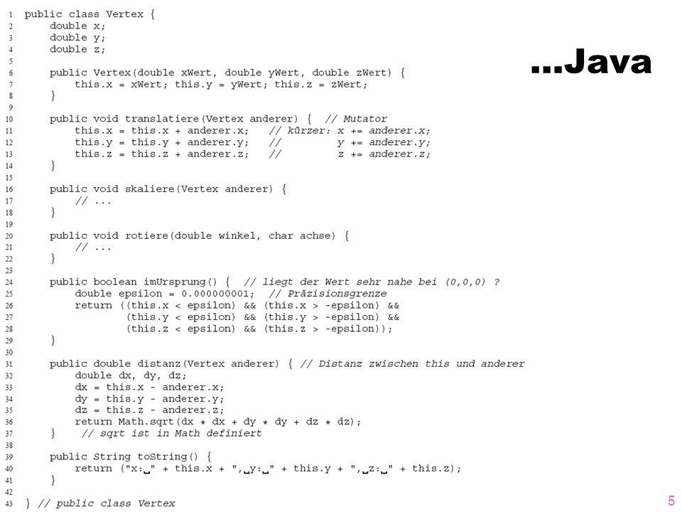 Initialisierung eines Vertexes 16