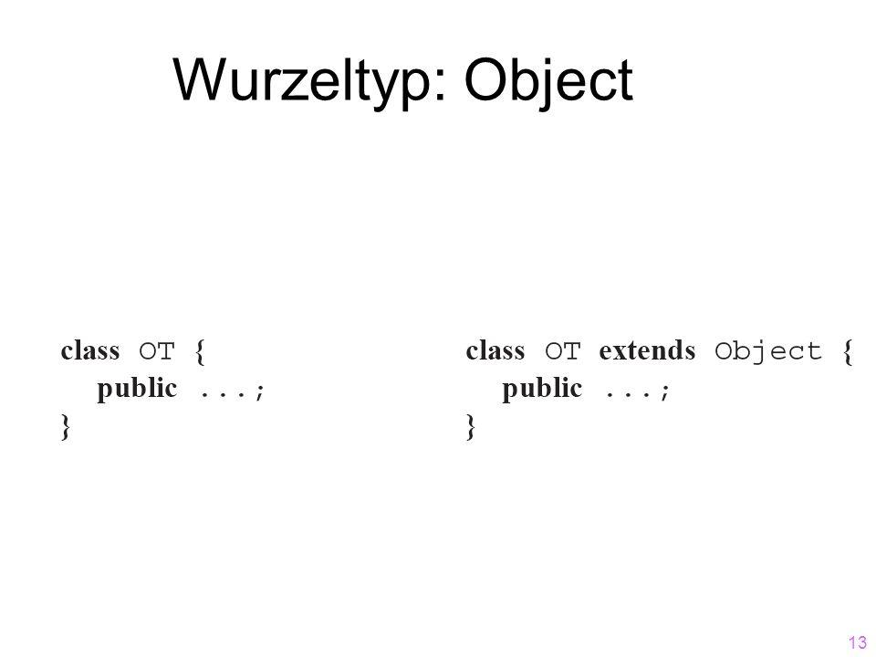 13 Wurzeltyp: Object