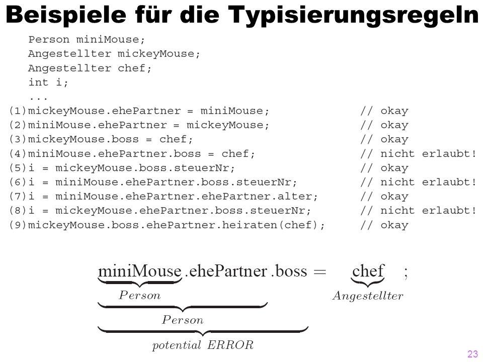 Beispiele für die Typisierungsregeln 23