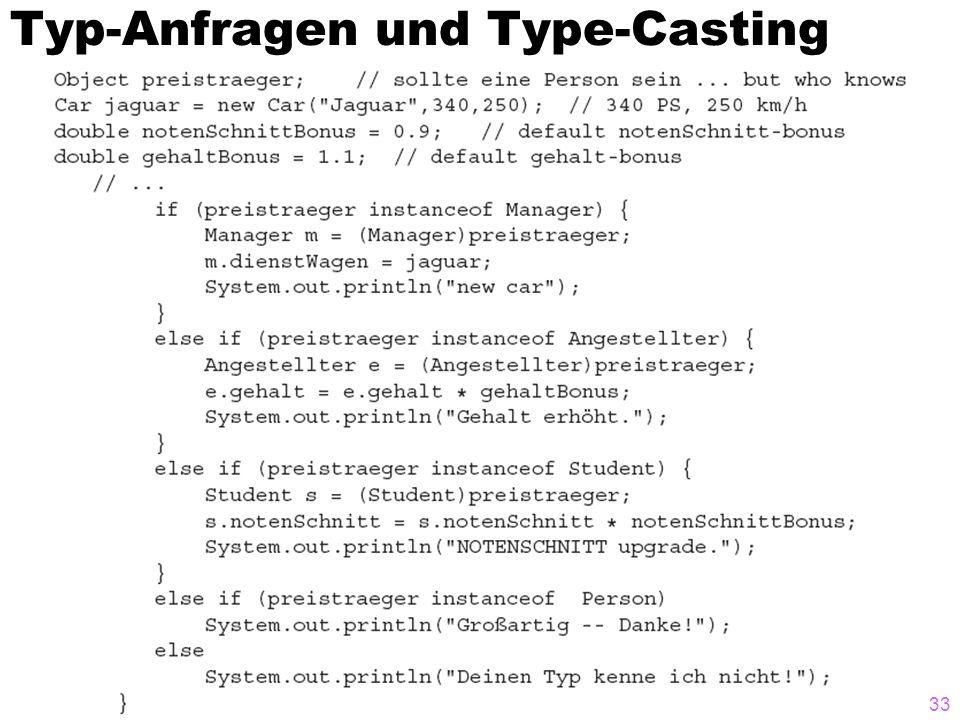 Typ-Anfragen und Type-Casting 33