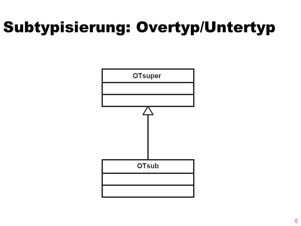 Subtypisierung: Overtyp/Untertyp 6