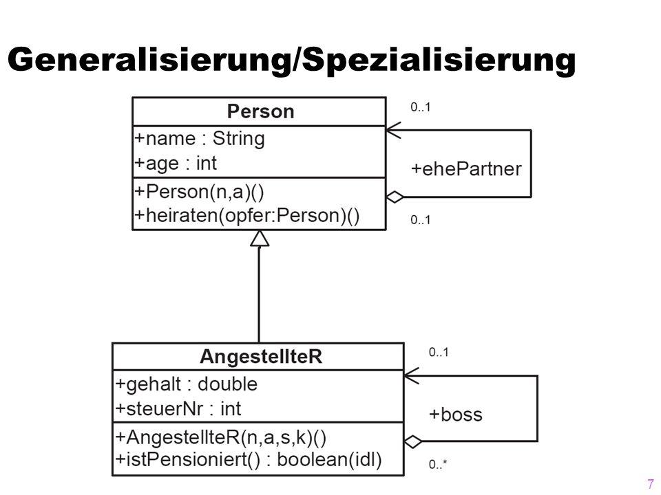Generalisierung/Spezialisierung 7