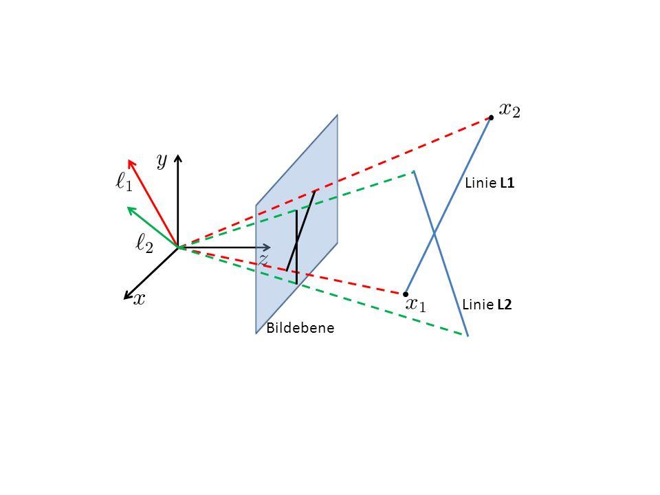 Linie L1 Bildebene Linie L2