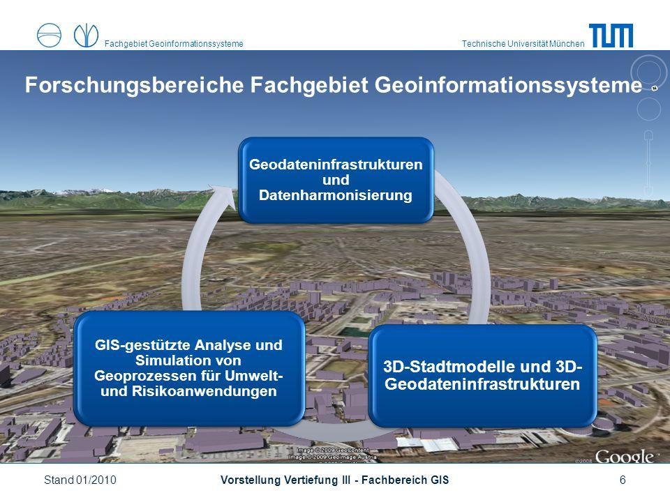 Technische Universität MünchenFachgebiet Geoinformationssysteme http://www.gis.bv.tum.de Vorstellung Vertiefung III - Fachbereich GISStand 01/20107