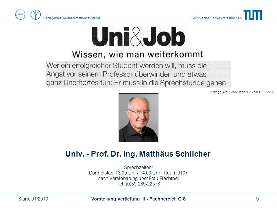 Technische Universität MünchenFachgebiet Geoinformationssysteme Univ.
