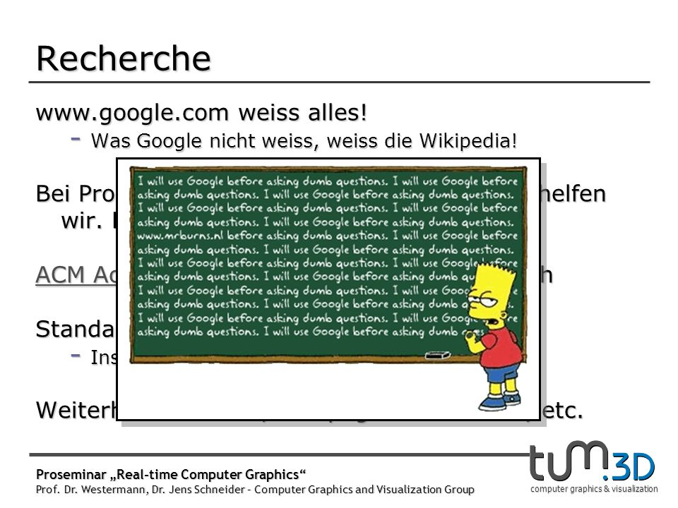 computer graphics & visualization www.google.com weiss alles.