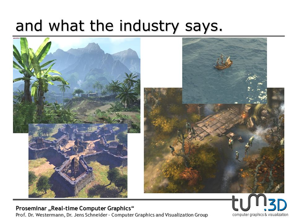 computer graphics & visualization and what the industry says.