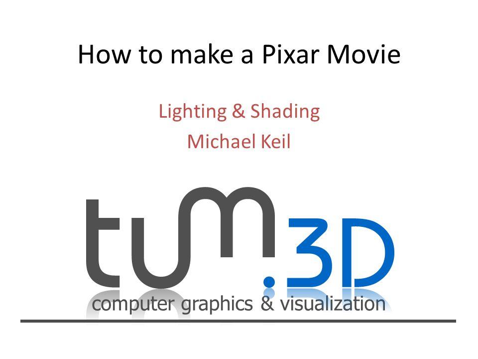 computer graphics & visualization Lighting & Shading Michael Keil Gouraud Shading Füllen des Polygons mit Linien – Linien werden mit einem Zwischenwert der Vertex- Werte interpoliert