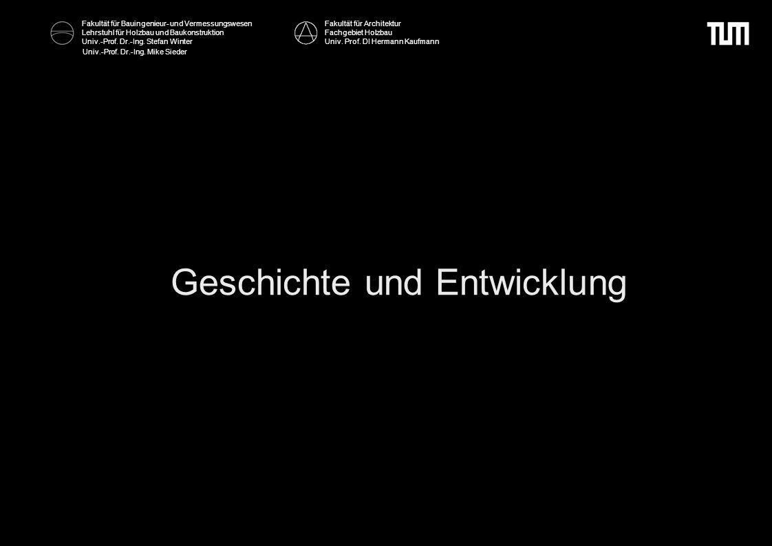 Fakultät für Bauingenieur- und Vermessungswesen Lehrstuhl für Holzbau und Baukonstruktion Univ.-Prof. Dr.-Ing. Stefan Winter Univ.-Prof. Dr.-Ing. Mike