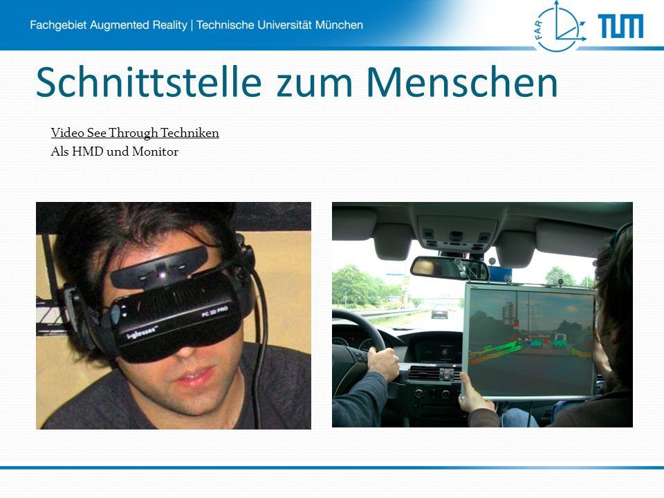 Schnittstelle zum Menschen Video See Through Techniken Als HMD und Monitor
