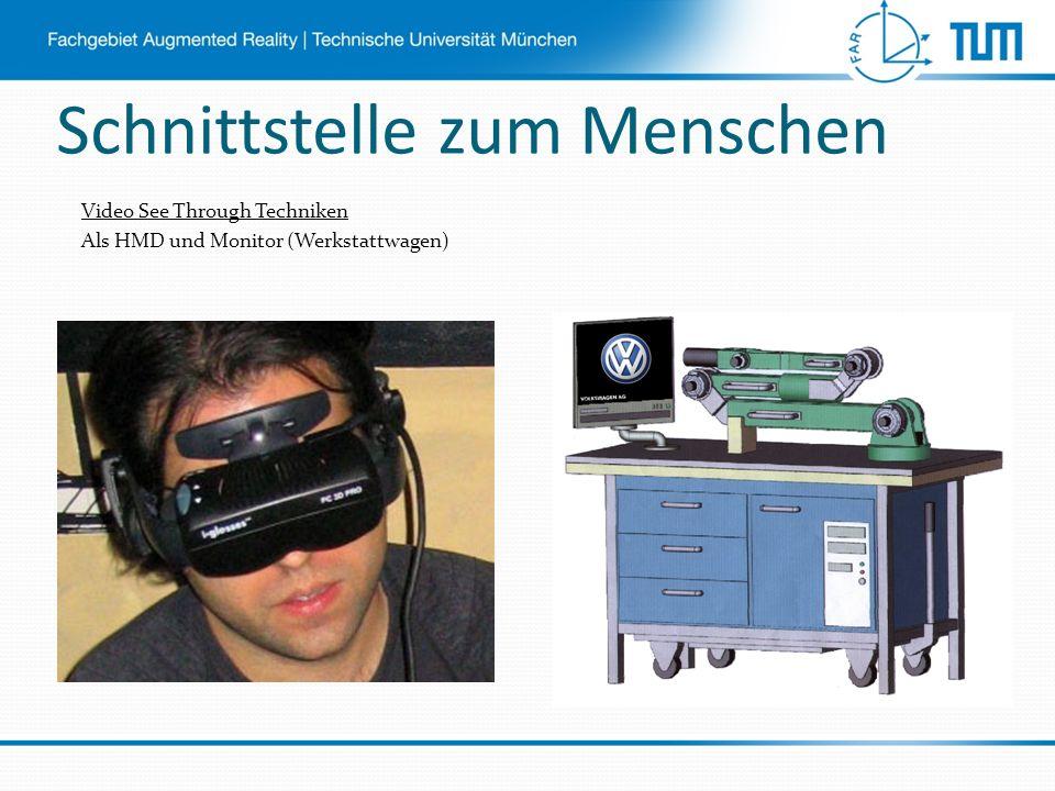 Schnittstelle zum Menschen Video See Through Techniken Als HMD und Monitor (Werkstattwagen)