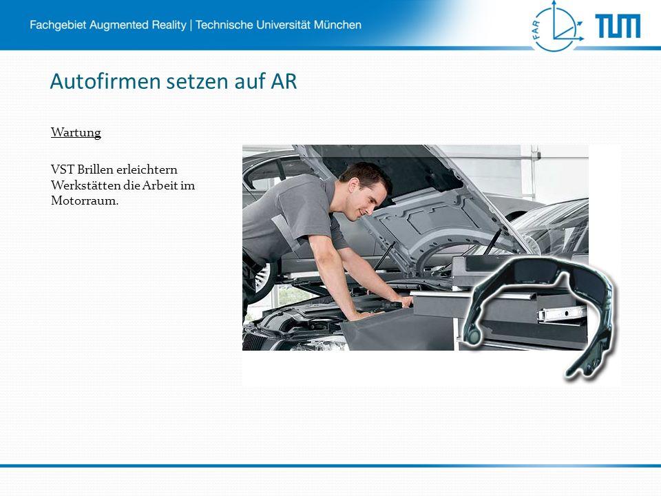Autofirmen setzen auf AR Wartung VST Brillen erleichtern Werkstätten die Arbeit im Motorraum.