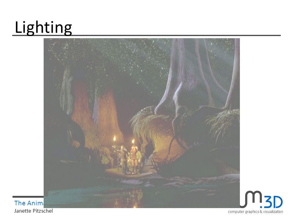 computer graphics & visualization The Animation Process 25/41 Janette Pitzschel Lighting