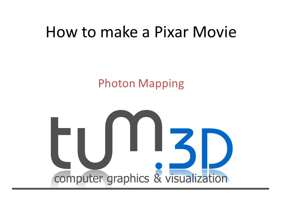 computer graphics & visualization Photon Tracing Pass
