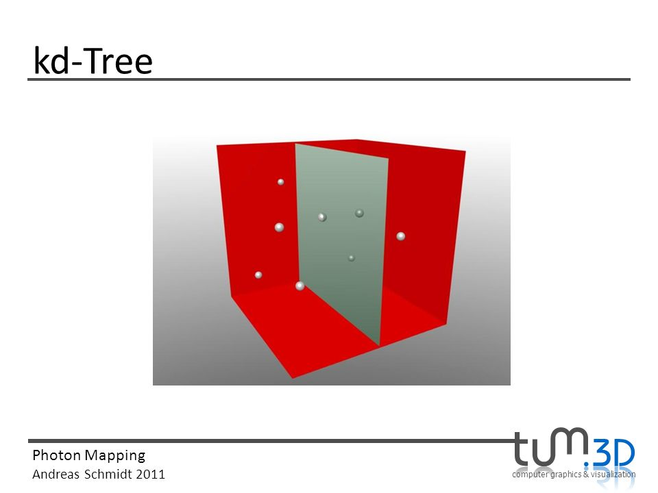 computer graphics & visualization Photon Mapping Andreas Schmidt 2011 kd-Tree