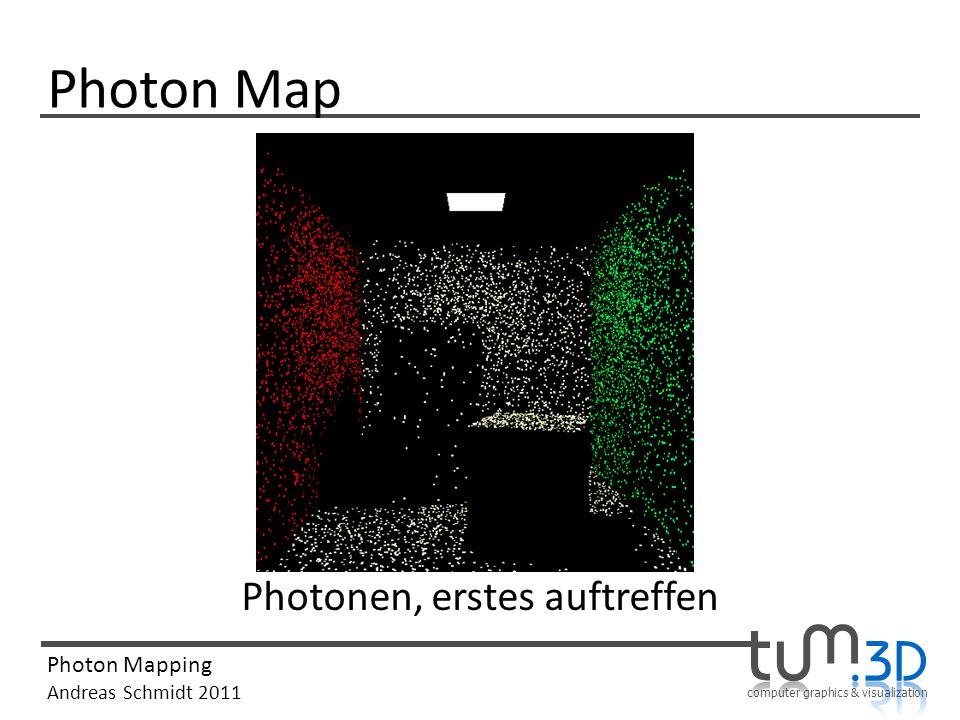 computer graphics & visualization Photon Mapping Andreas Schmidt 2011 Photon Map Photonen, erstes auftreffen