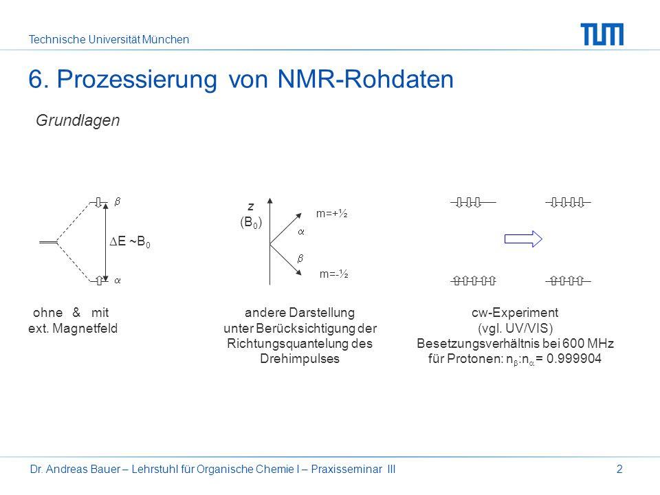 Technische Universität München Dr. Andreas Bauer – Lehrstuhl für Organische Chemie I – Praxisseminar III1 Organisch-Chemisches Grundpraktikum Praxisse
