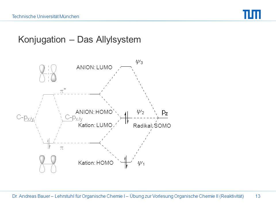 Technische Universität München Dr. Andreas Bauer – Lehrstuhl für Organische Chemie I – Übung zur Vorlesung Organische Chemie II (Reaktivität)13 Konjug