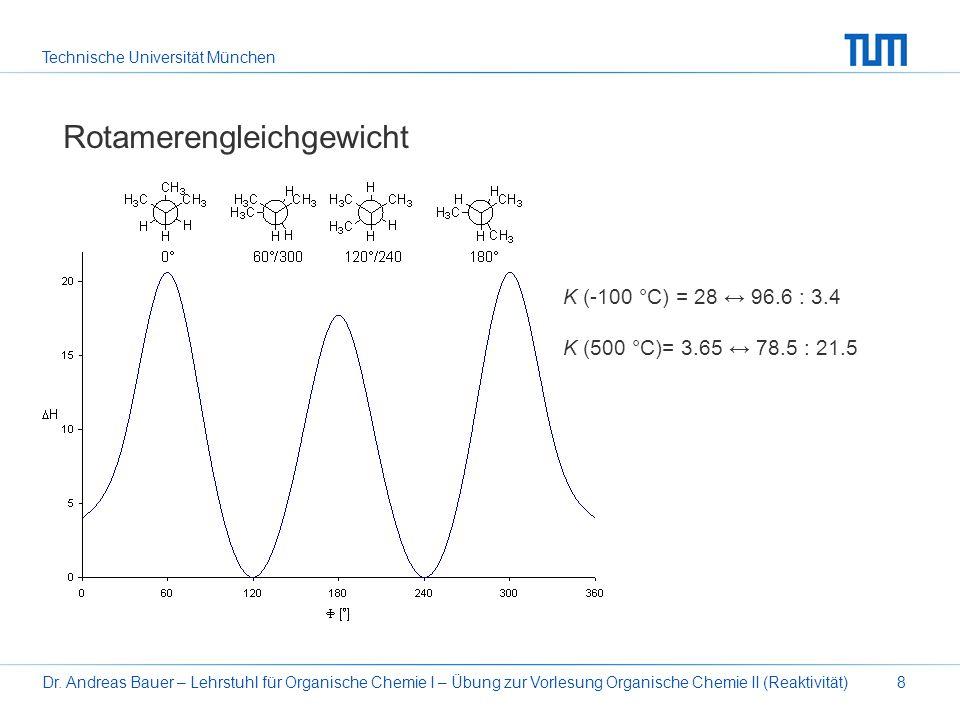 Technische Universität München Dr. Andreas Bauer – Lehrstuhl für Organische Chemie I – Übung zur Vorlesung Organische Chemie II (Reaktivität)8 Rotamer