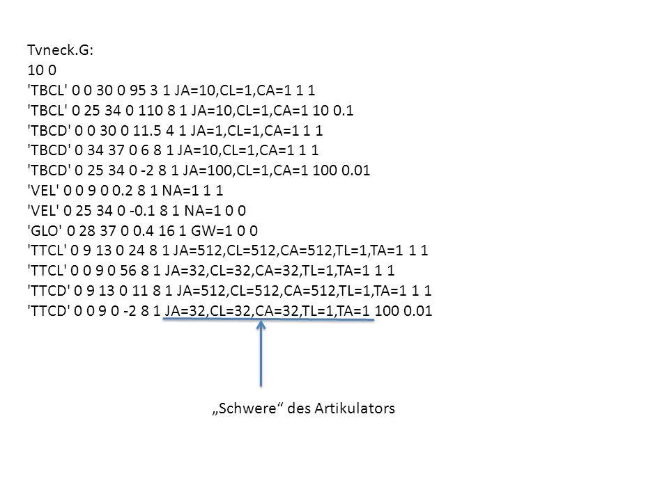 Tvneck.G: 10 0 'TBCL' 0 0 30 0 95 3 1 JA=10,CL=1,CA=1 1 1 'TBCL' 0 25 34 0 110 8 1 JA=10,CL=1,CA=1 10 0.1 'TBCD' 0 0 30 0 11.5 4 1 JA=1,CL=1,CA=1 1 1