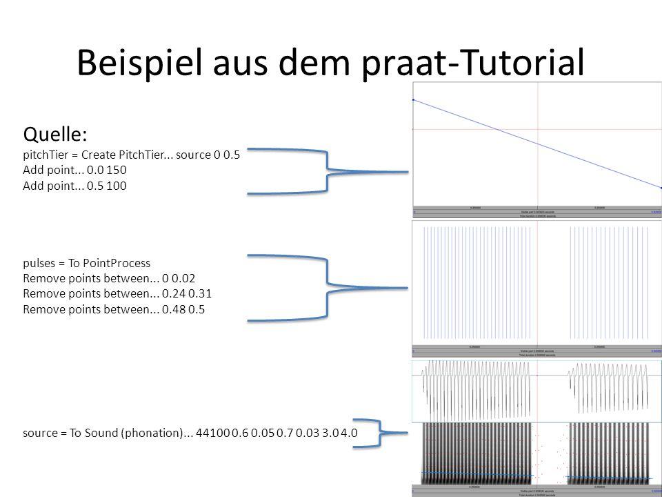 Bislang haben wir uns mit relativ komplizierten Aufbauten, die die Sprechvorgänge so gut wie möglich zu simulieren versuchen, beschäftigt -Quellsignal