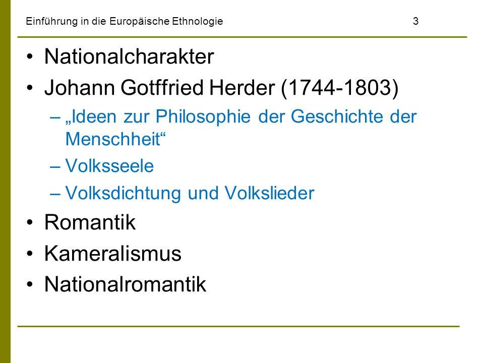Einführung in die Europäische Ethnologie4 Johann Gottfried Herder