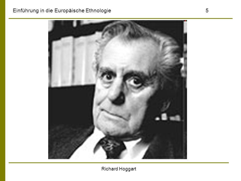Einführung in die Europäische Ethnologie5 Richard Hoggart