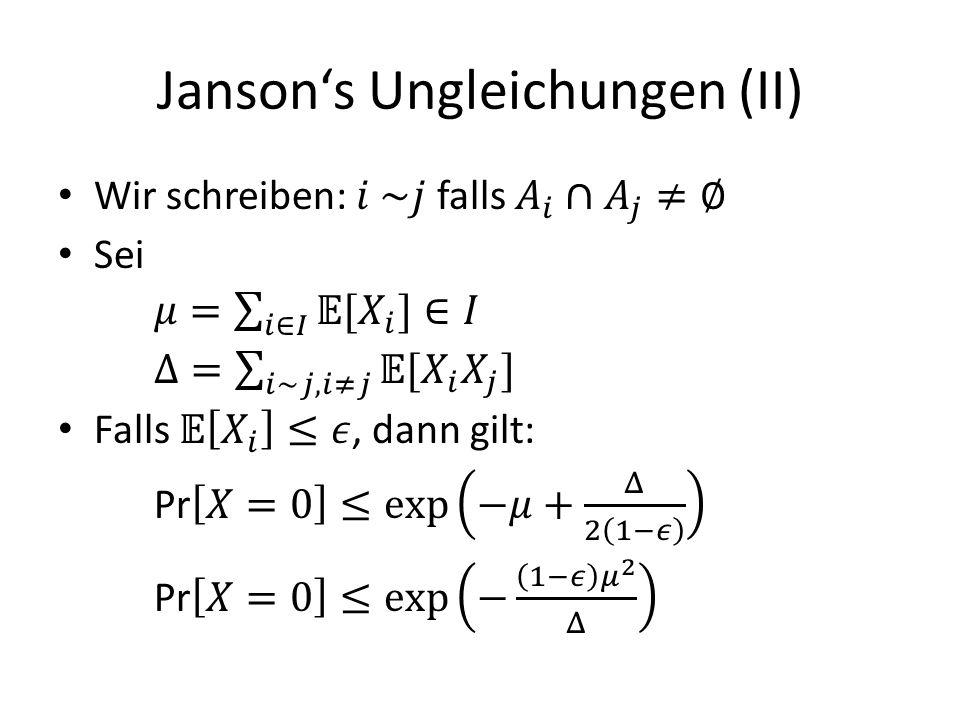 Jansons Ungleichungen (II)