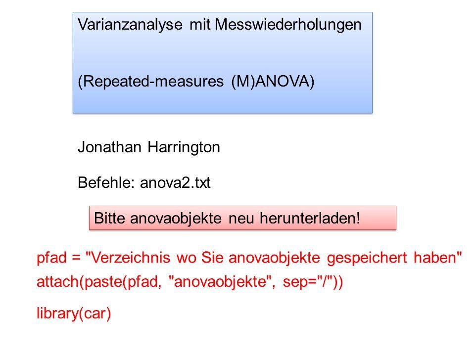 Ergebnisse* Type II Repeated Measures MANOVA Tests: Pillai test statistic Df test stat approx F num Df den Df Pr(>F) Dialekt 1 0.581 11.081 1 8 0.0104034 * Position 1 0.925 98.547 1 8 8.965e-06 *** Dialekt:Position 1 0.842 42.488 1 8 0.0001845 *** dr.aov *das selbe: Dialekt (F[1, 8]=11.08, p < 0.05) und Position (F[1, 8] = 98.56, p < 0.001) hatten einen signifikanten Einfluss auf die Dauer und es gab eine signifikante Interaktion (F[1, 8]=42.50, p < 0.001) zwischen diesen Faktoren.