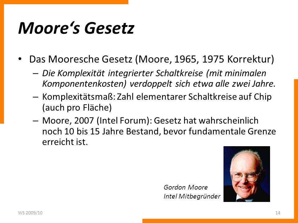 Moores Gesetz WS 2009/1015