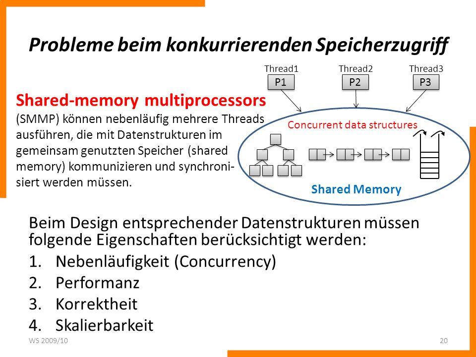 Beispiel: Datenstruktur shared counter Operation fetch-and-inc – Ein Wert wird aus einer Speicherzelle gelesen und um 1 erhöht.