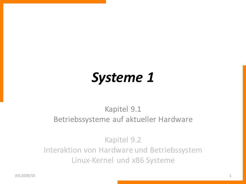 Paging in Linux Auf 32-Bit Architekturen muss das 3-stufige Paging Modell angepasst werden: – Ist keine PAE Erweiterung vorhanden, so wird die Page Middle Directory Tabelle nicht genutzt.