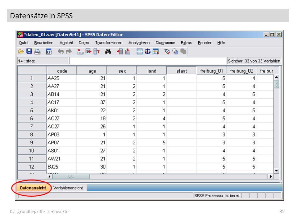 Datensätze in SPSS 02_grundbegriffe_kennwerte32