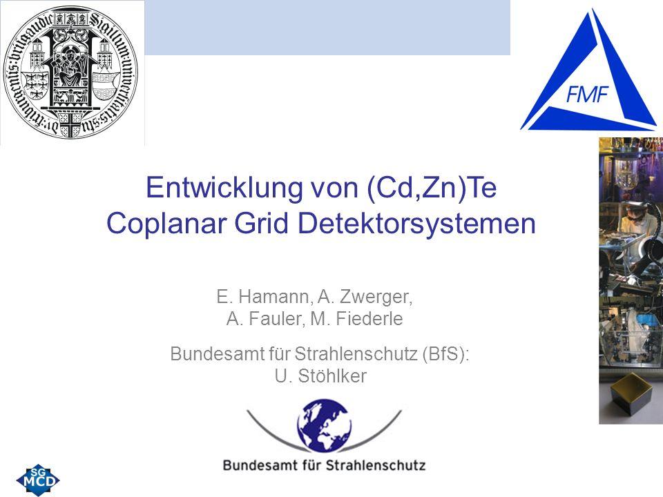 Entwicklung von (Cd,Zn)Te Coplanar Grid Detektorsystemen E.