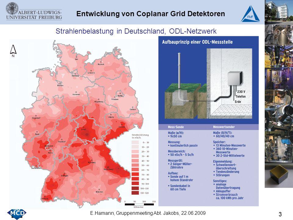 3 Entwicklung von Coplanar Grid Detektoren Strahlenbelastung in Deutschland, ODL-Netzwerk