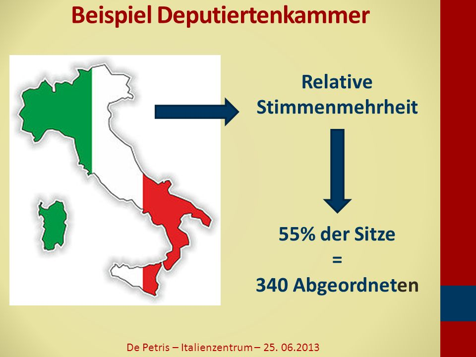 Wahlergebnisse 2013 Senat De Petris – Italienzentrum – 25. 06.2013