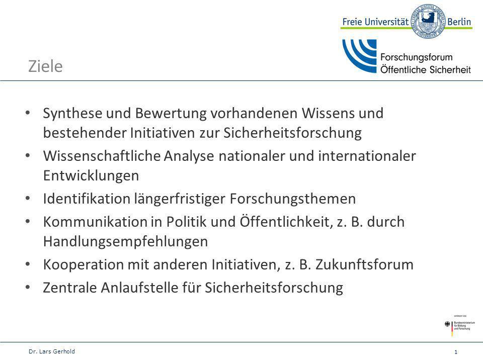 2 Ausgangspunkt Zukunftsforum Öffentliche Sicherheit e.V.