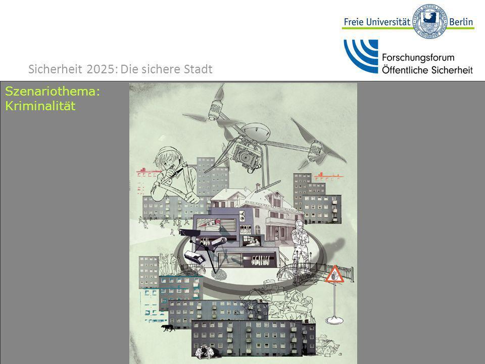 14 Szenariothema: Kriminalität Sicherheit 2025: Die sichere Stadt
