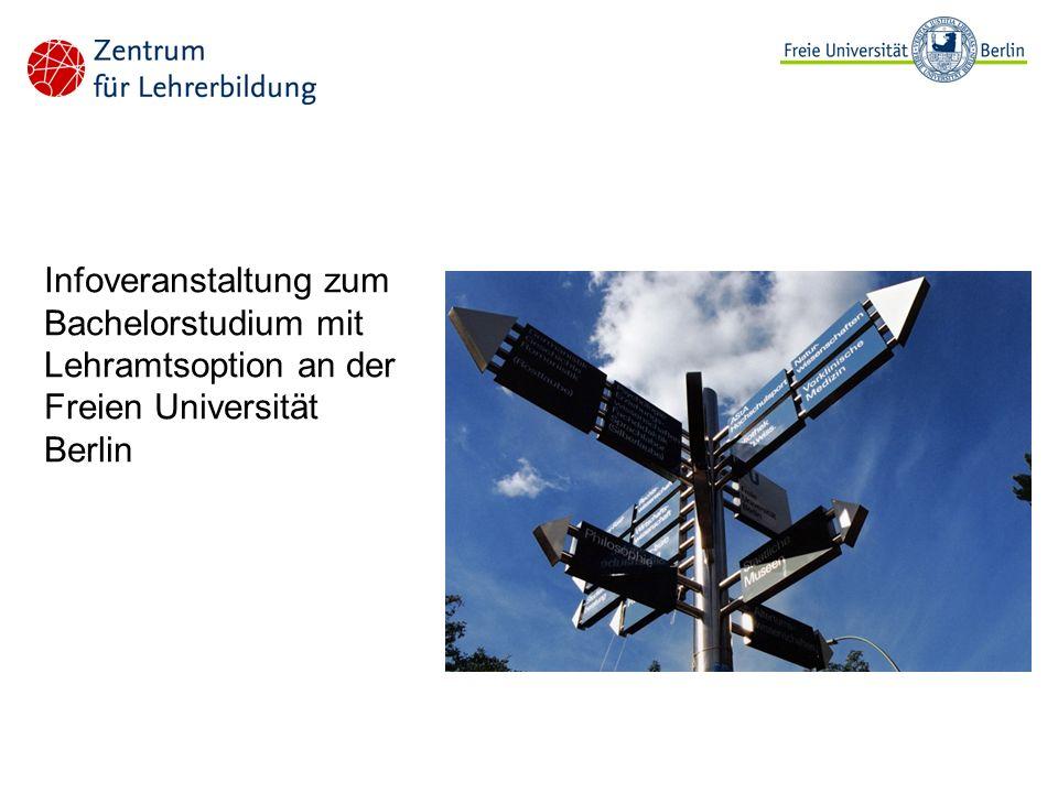 Infoveranstaltung zum Bachelorstudium mit Lehramtsoption an der Freien Universität Berlin