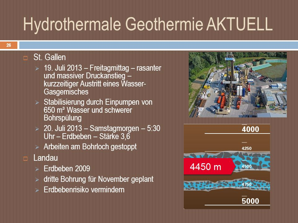Hydrothermale Geothermie AKTUELL St.Gallen 19.