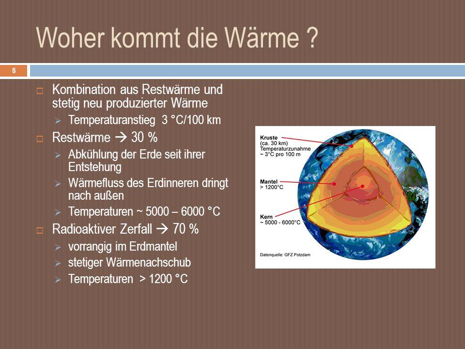 Woher kommt die Wärme .