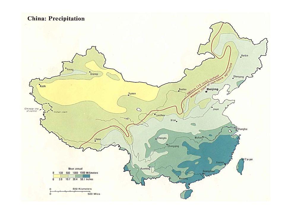 Jangtsekiang, Chang Jiang 6380 km Ursprung tibetanisches Hochland Mündung bei Shanghai Einzugsgebiet ca.