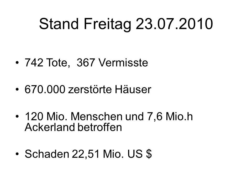 Aktuell: Dienstag 20.07.2010 Zufluss 70.000m³/s Abfluss 40.000m³/s Freitag 23.07.2010 Rekordhöhe 158,86m ü.